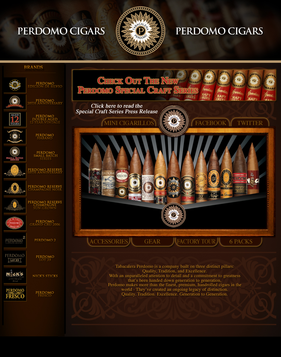 Perdomo Cigars Home Page